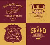 image of apparel  - handmade vintage label collection for apparel - JPG