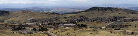 foto of crippled  - The overall setting of the old town of Cripple Creek Colorado.