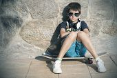picture of nea  - boy with skateboard street fashion youth and lifestyle - JPG