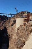 image of hydroelectric  - Hoover Dam Hydroelectric Structure on Colorado River