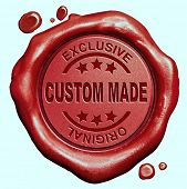 picture of wax seal  - custom made customized handcraft hand crafted authentic original red wax seal stamp button - JPG