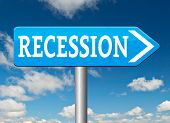 picture of stock market crash  - recession and stock market crash crisis bank economic and financial bank recession road sign  - JPG
