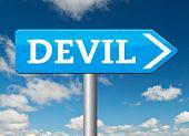 image of satan  - devil evil satan burn in hell   - JPG