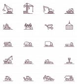 stock photo of machinery  - Set of the construction machinery related icons - JPG