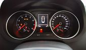 foto of mph  - illuminated instrument panel with the passenger car - JPG