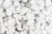 stock photo of crystal salt  - Salt crystals laying in a messy pile  - JPG