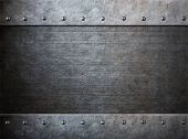 stock photo of ironclad  - grunge armor metal with rivets background - JPG