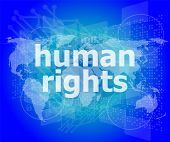 picture of human rights  - Law concept - JPG