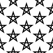 picture of pentacle  - Pentagram button seamless pattern on white background - JPG