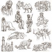 Постер, плакат: Afghanistan: Travel Around The World An Hand Drawn Illustration