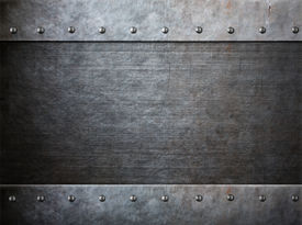 picture of ironclad  - grunge armor metal with rivets background - JPG