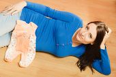 foto of baby bump  - Pregnancy motherhood and happiness concept - JPG