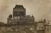 pic of chateau  - View of Chateau Frontenac in Quebec city - JPG