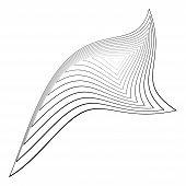 pic of distort  - Design monochrome triangle movement illusion background - JPG