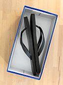 image of shoe-box  - A close up shot of a shoe box - JPG