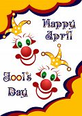 picture of fool  - Postcard on April 1  - JPG