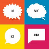 foto of motivation talk  - Set of White Speech Bubbles for your designs - JPG