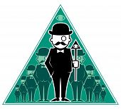 pic of illuminati  - Conceptual illustration for secret society - JPG