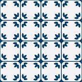 image of indigo  - Indigo and white seamless delft pattern - JPG