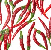 stock photo of red hot chilli peppers  - red hot chilli peppers - JPG