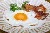 stock photo of bacon  - Breakfast  - JPG