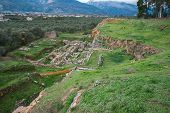 stock photo of sparta  - Ancient Greek ruins at the archaeological place at Sparta Greece - JPG