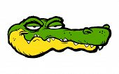 pic of alligators  - A vector illustration of a funny green and yellow cartoon alligator - JPG