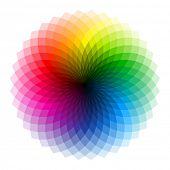 foto of color wheel  - Color wheel - JPG