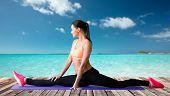 stock photo of do splits  - fitness - JPG
