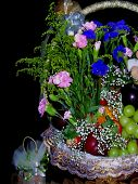 Wedding Gift Flowery Fruit Basket