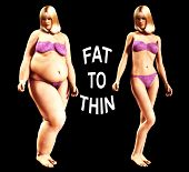 pic of flabby  - An image of a women who has gone from being fat to thin a useful image about weight loss.