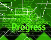 Progress Word Means Advance Advancement And Forward poster
