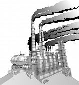 image of noise pollution  - Industry concept - JPG