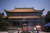 stock photo of gullible  - views of a colorful chinese buddhism temple - JPG