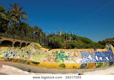 Antoni Gaudi hause and ceramic