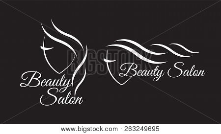 poster of Logo Template For Hair Salon, Beauty Salon, Cosmetic Procedures, Spa Center. Beauty Logo For Hair Sa