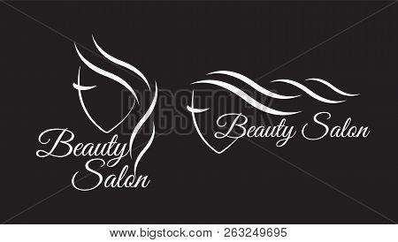 poster of Logo Template For Hair Salon, Beauty Salon, Cosmetic Procedures, Spa Center. Beauty Logo For Hair Sa