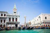 Постер, плакат: Венеция Италия гондол вблизи Сан Марко на Гранд канале