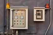 Vaporizer Control Panel And Gas Leak Detector Control Panel poster
