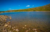 Independence Pass Crystal Clear Lake In Summer Time Mountain Top Under Gorgeous Lighting Gorgeous Bl poster