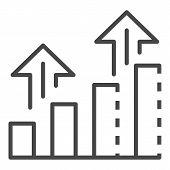 Grow Up Chart Icon. Outline Grow Up Chart Vector Icon For Web Design Isolated On White Background poster