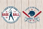 Set Of Baseball Club Badge. Vector Illustration. Concept For Shirt Or Logo, Print, Stamp, Patch Or T poster