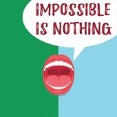 Conceptual Hand Writing Showing Impossible Is Nothing. Business Photo Text Anything Is Possible Beli poster