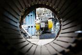 picture of vacuum pump  - Forevacuum installation  - JPG