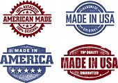 Made in USA sellos originales de América
