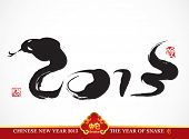 Vector Snake Calligraphy, Chinese New Year 2013 Translation: 2013