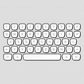 stock photo of qwerty  - Keyboard keys - JPG