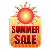 Summer Sale In Label With Sun