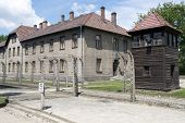 OSWIECIM - MAY 26: Buildings in the former German concentration camp in Oswiecim, Poland on May 26,