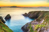 Sunset over Dunquin bay on Dingle Peninsula, Co.Kerry, Ireland